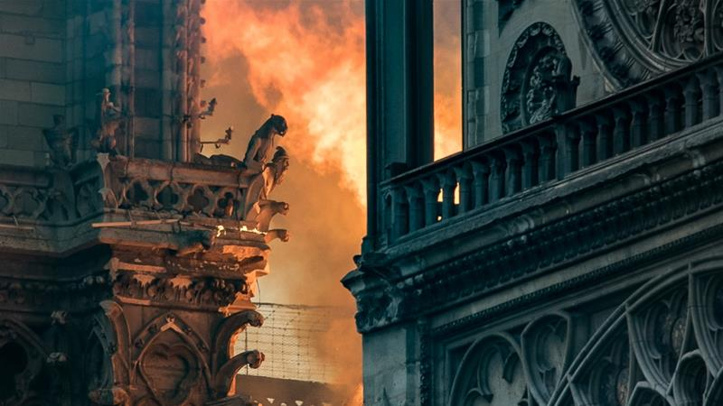 Massive blaze damages Notre Dame Cathedral in Paris