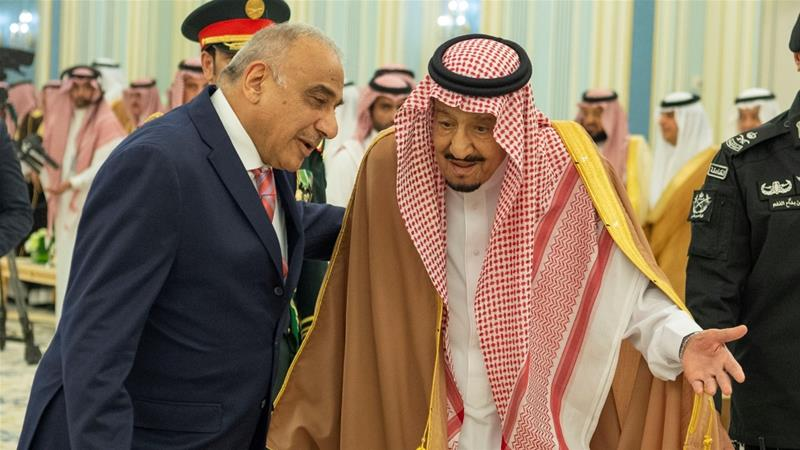 Abdel-Mahdi makes first visit to Saudi Arabia