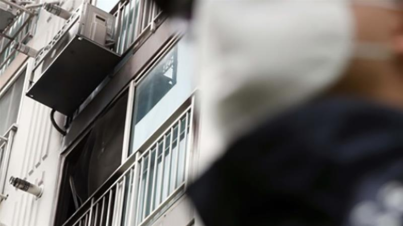 The 42 year old set fire to his apartment in the southeastern city of Jinju, about 435km southeast of Seoul [Yonhap]