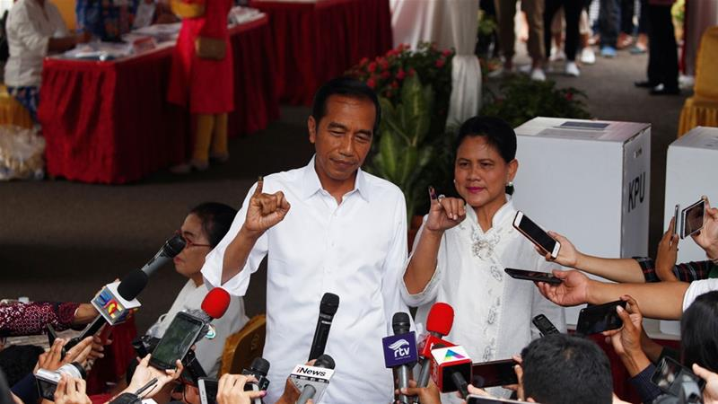 Widodo first came to power after an election in 2014 [File: Edgar Su/Reuters]