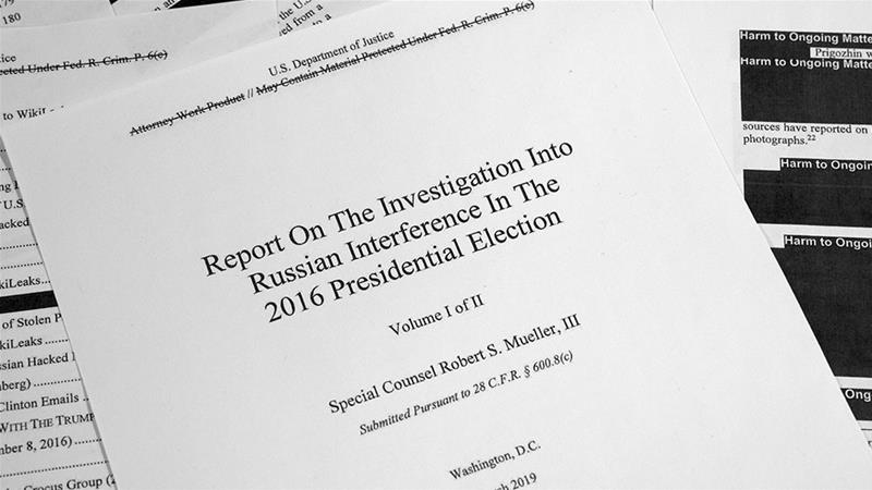 US: What does the redacted Mueller report say?