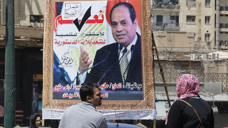 The referendum on the proposed constitutional amendments will take place from April 20 to 22 [Amr Nabil/AP]