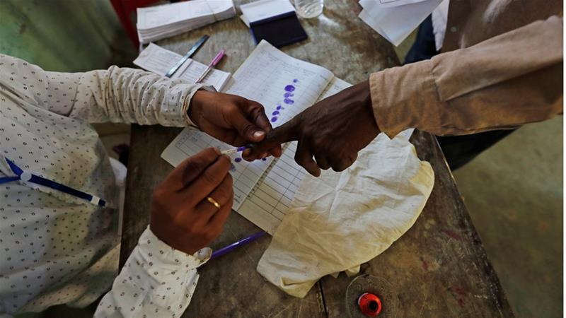Indian man chops off finger after voting for the 'wrong