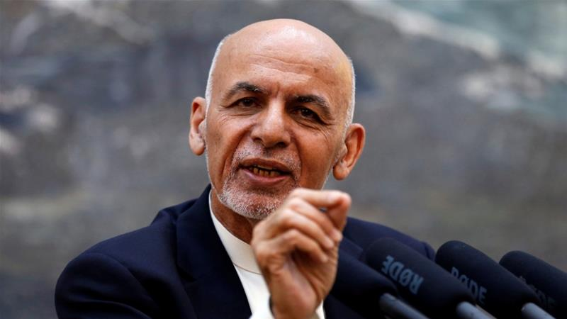 File: Afghan President Ashraf Ghani speaks during a news conference in Kabul, Afghanistan on June 30, 2018 [File: Mohammad Ismail/Reuters]