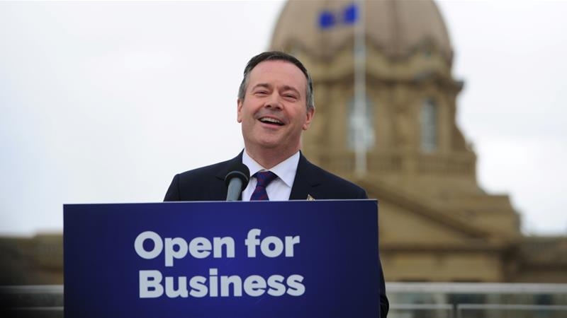 The United Conservative Party led by Jason Kenney won the provincial elections in the province of Alberta, Canada on April 17 [Reuters/Candace Elliott]