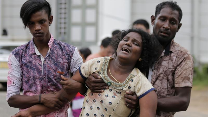 Most of the victims were killed in three churches where worshippers were attending Easter Sunday services [Eranga Jayawardena/AP]