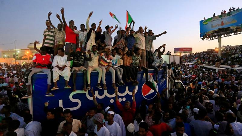 Sudan protesters want the military council to be dissolved and power handed to a transitional civilian government [Mohamed Nureldin Abdallah/Reuters]