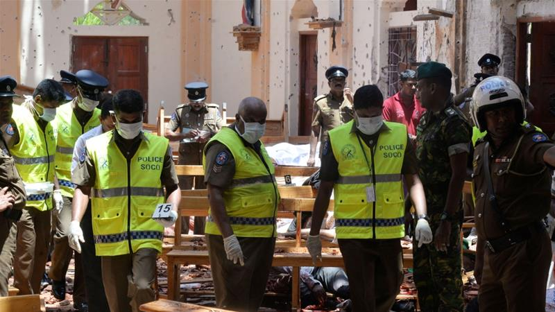 More than 350 people were killed in the Easter Sunday bombings in Sri Lanka [Reuters]