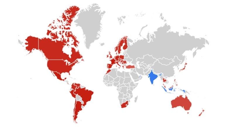 Searches for the Sri Lanka blasts outnumbered those of the Paris fire in only three countries [Google Trends]