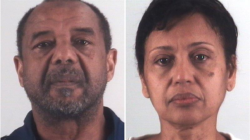 Mohamed Toure and Denise Cros-Toure, a Fort Worth couple accused of enslaving a Guinean woman for 16 years [Tarrant County Sheriff's Department/AP]