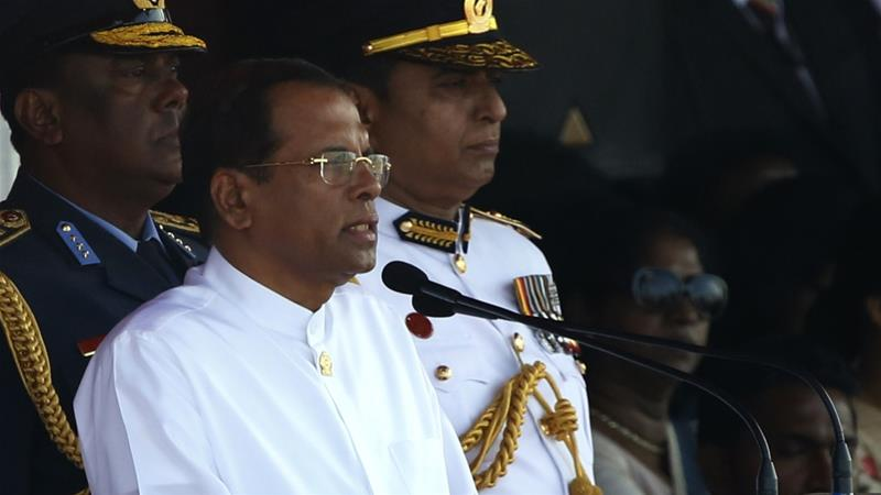 Sri Lankan President Maithripala Sirisena said he would oversee a 'complete restructure' of police and security forces in 'coming weeks' [File: M.A. Pushpa Kumara/EPA]