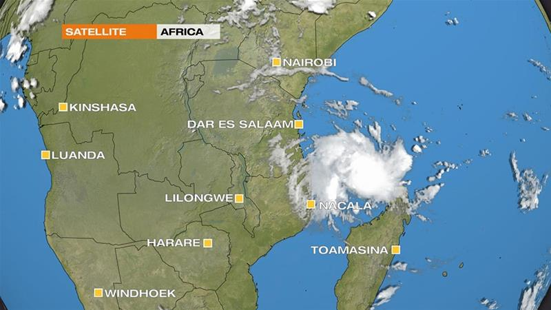 Cyclone Kenneth strengthens as it heads to Mozambique [Al Jazeera]