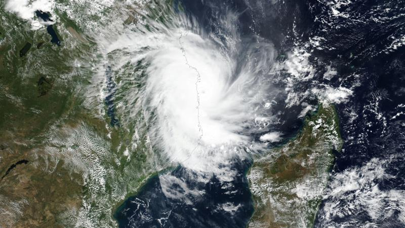 Tropical Cyclone Kenneth approaches the coast of Mozambique [NASA/Reuters]
