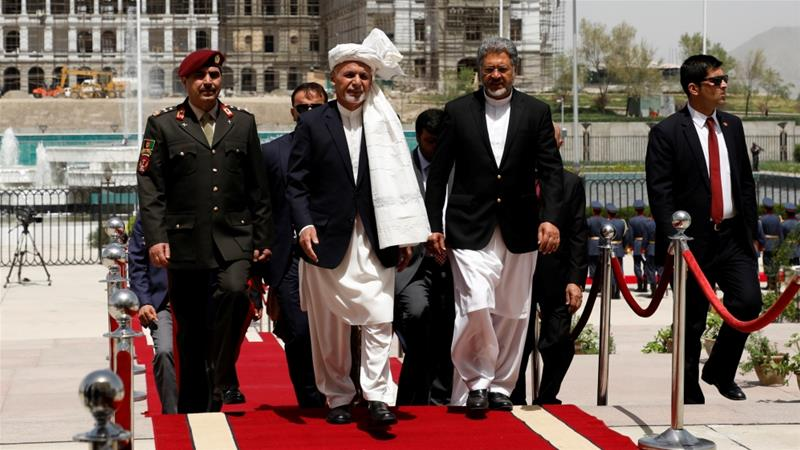 Ghani encouraged newly-elected MPs on Friday to participate in the peace process with the Taliban [Omar Sobhani/Reuters]