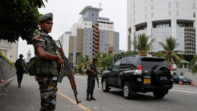 Security remains tight across Sri Lanka as security forces hunt down dozens of suspects [Reuters]