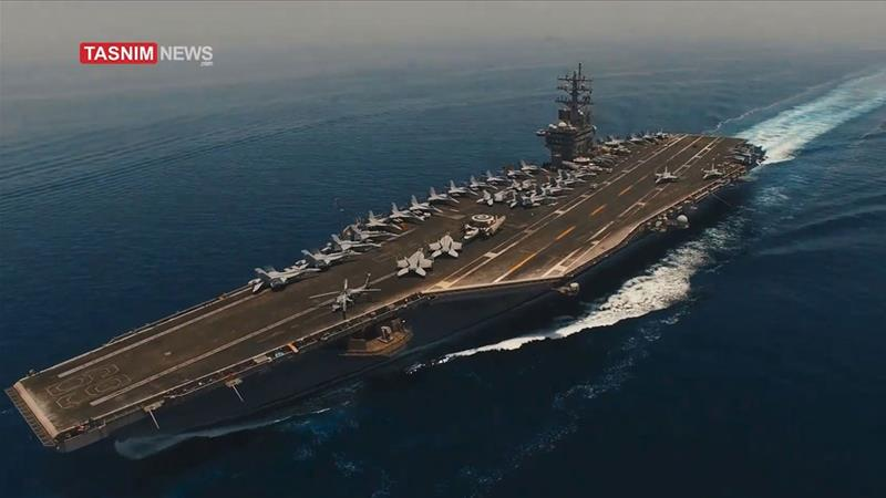 Iran's Revolutionary Guard 'shoots drone footage' of US warships