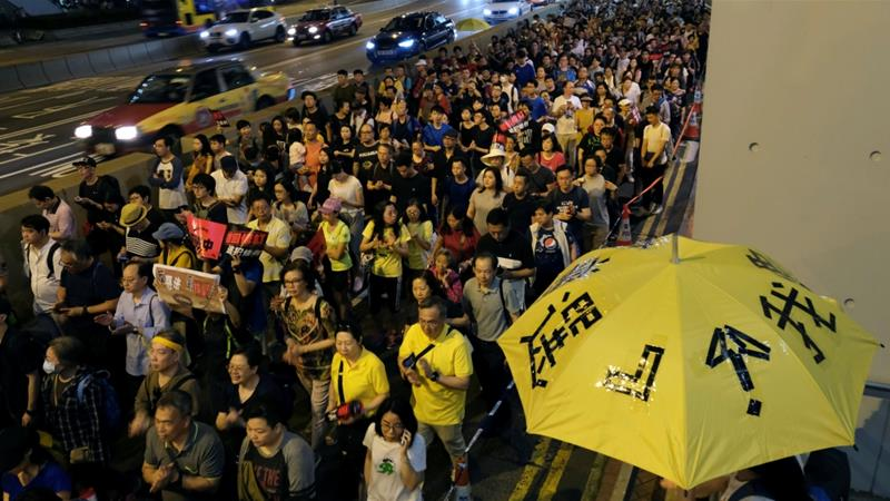 Huge protest in Hong Kong against China extradition plan
