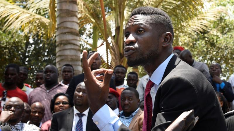 Wine says the government is afraid of young Ugandans who challenge 'injustice and oppression' [File: Newton Nambwaya/Reuters]