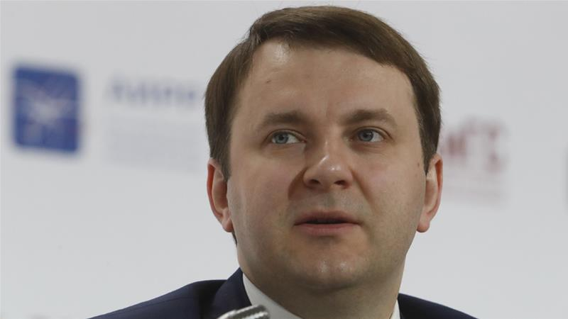 Russia's Economy Minister Maxim Oreshkin welcomed Friday's ruling [File: Sergei Karpukhin/Reuters]