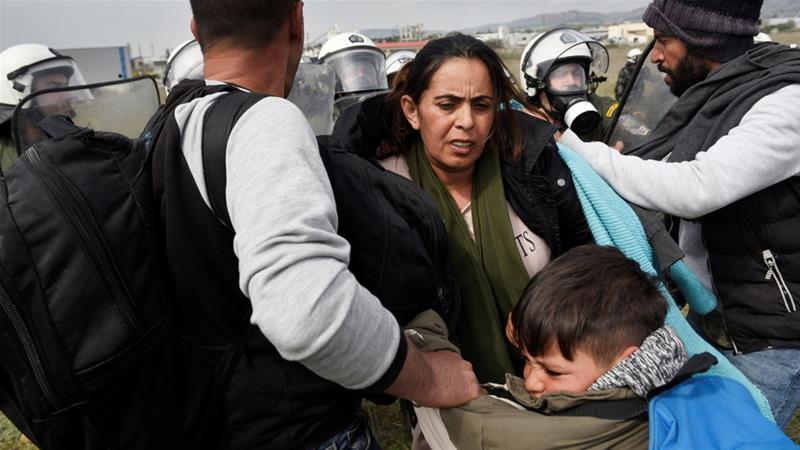 Greek Police Clash With Refugees At North Macedonia Border After False Reports