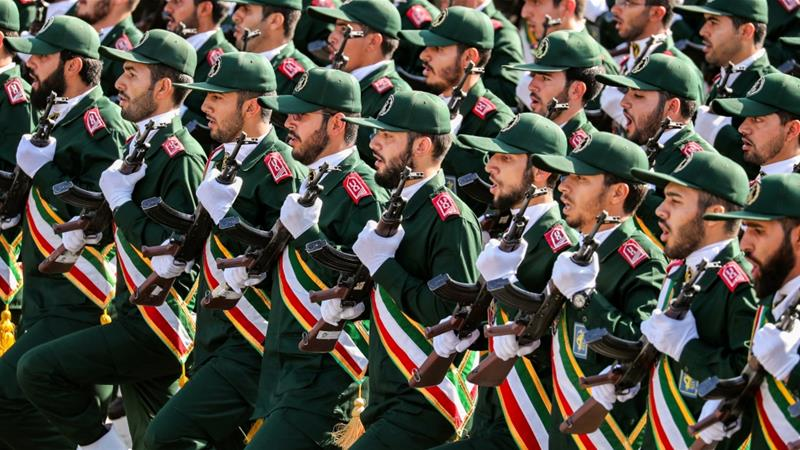 The IRGC is estimated to have 125,000 personnel, comprised of army, navy and air units [File: AFP]