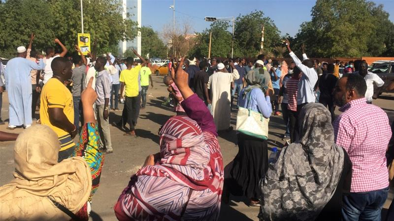 Gunshots, tear gas fired at Sudan protests