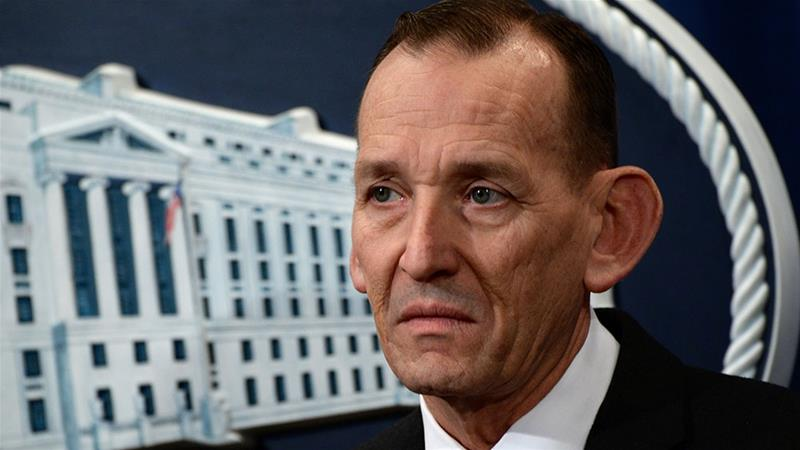 US Secret Service Director Randolph Alles participates in a news conference about 'significant law enforcement actions related to elder fraud' in Washington [File: Erin Scott/Reuters]