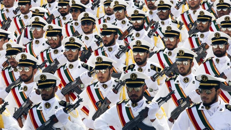 Iran's MPs don uniform of Revolutionary Guards in protest at US