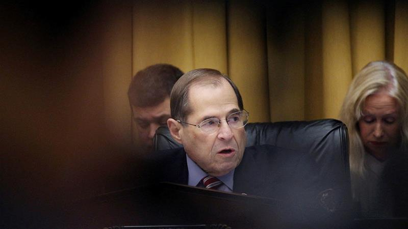 Jerry Nadler speaks as the committee votes to authorise subpoenas for Mueller's full unredacted report and the underlying evidence from his investigation into alleged Russian meddling in the 2016 election [File:Alex Wroblewski/Reuters]