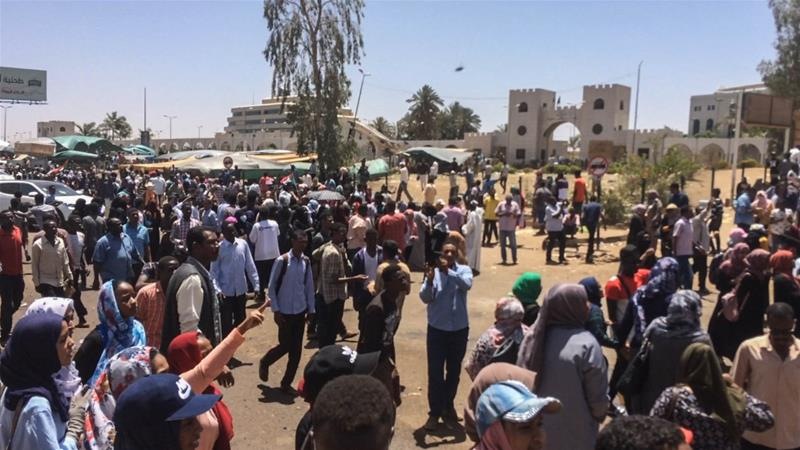 People in Sudan have been protesting since December demanding the resignation of President Omar al-Bashir [File: Anadolu]