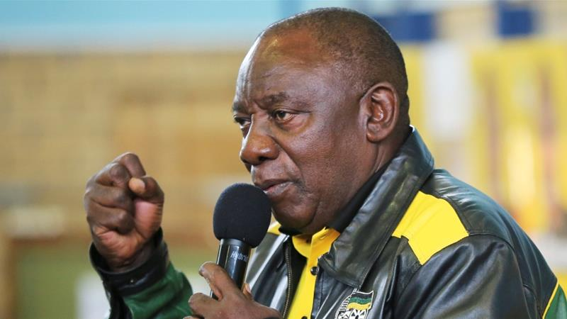 South African President Cyril Ramaphosa has promised to cut unemployment and clean up corruption within the ANC party [File: Sumaya Hisham/Reuters]