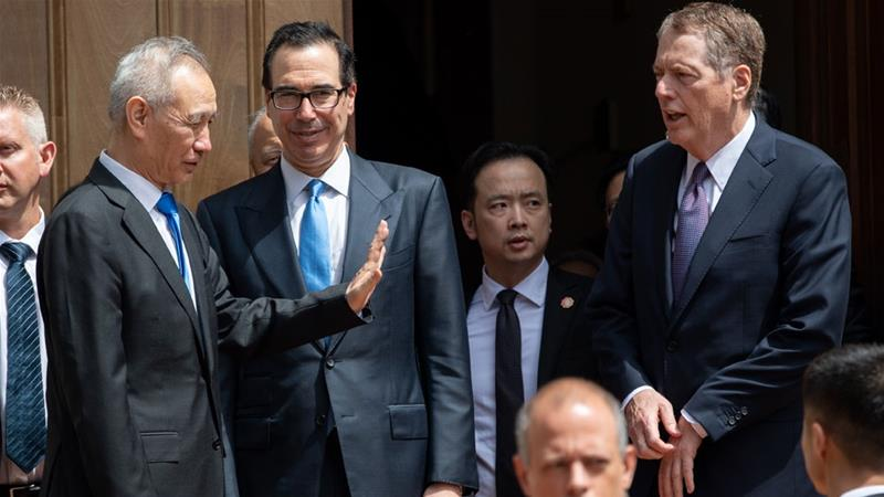 Image result for steven mnuchin and liu he