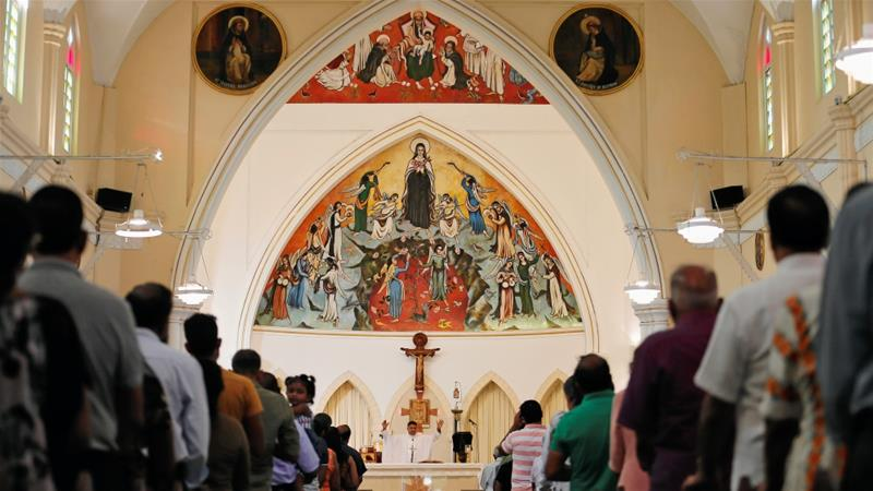 Sri Lanka's Catholics hold first Sunday mass since Easter
