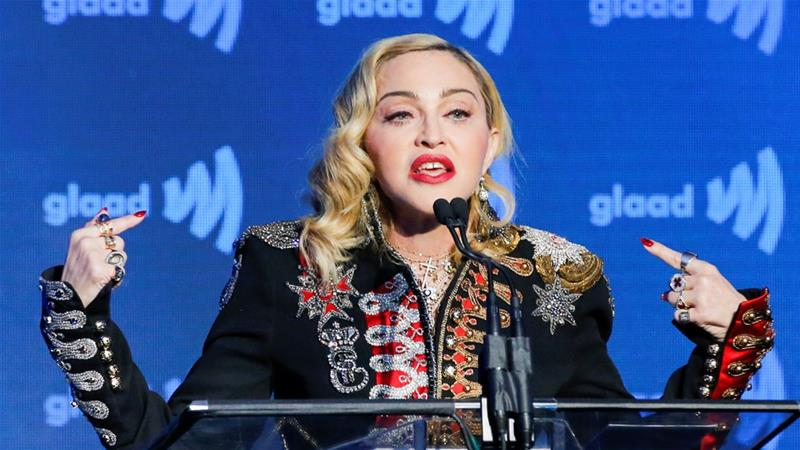 Madonna, 60, is expected to perform two songs in Tel Aviv on Saturday [File: Eduardo Munoz/Reuters]