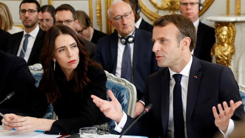 French President Emmanuel Macron and New Zealand's Prime Minister Jacinda Ardern have joined forces to fight online 'extremism' [Charles Platiau/Reuters]