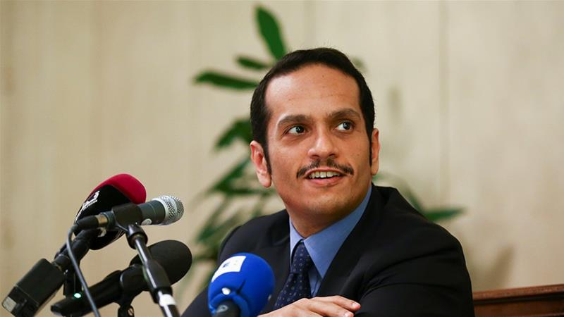 Foreign Minister Sheikh Mohammed bin Abdulrahman Al Thani went to Iran to discuss the crisis [Reuters]
