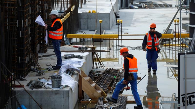 Construction helped lift Germany's economy during the first three months of this year [File: Ralph Orlowski/Reuters]