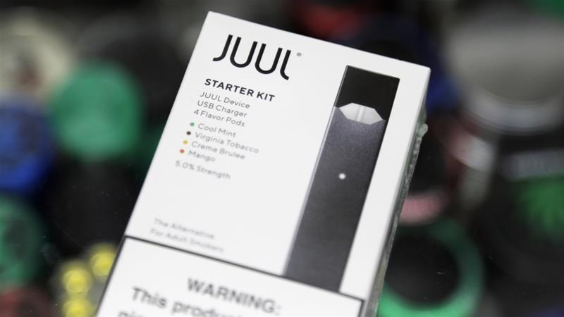 North Carolina has become the first state in the US to sue e-cigarette maker Juul for marketing its products to young smokers [File: Seth Wenig/AP]