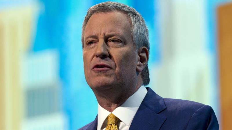 De Blasio became the mayor of New York City in 2014 [Jose Luis Magana/AP]