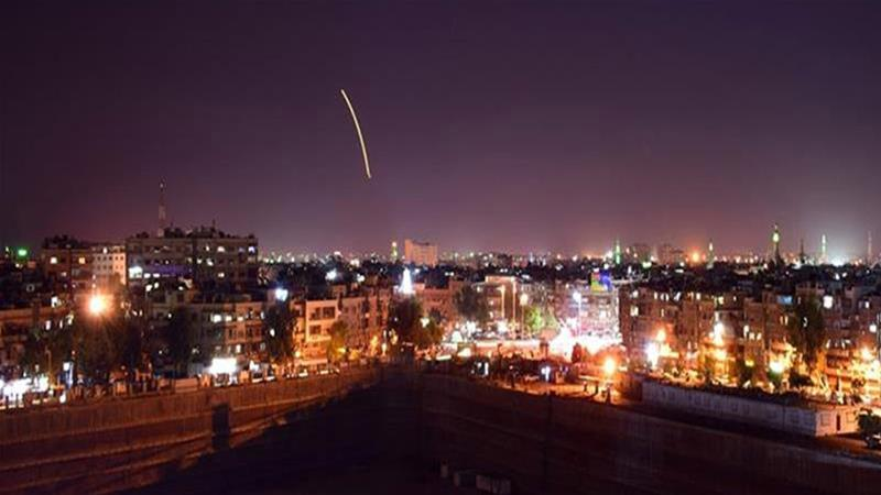 Syria's air defenses intercept Israeli attack around Syrian capital