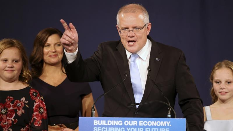 Scott Morrison declares victory in tight Australia election