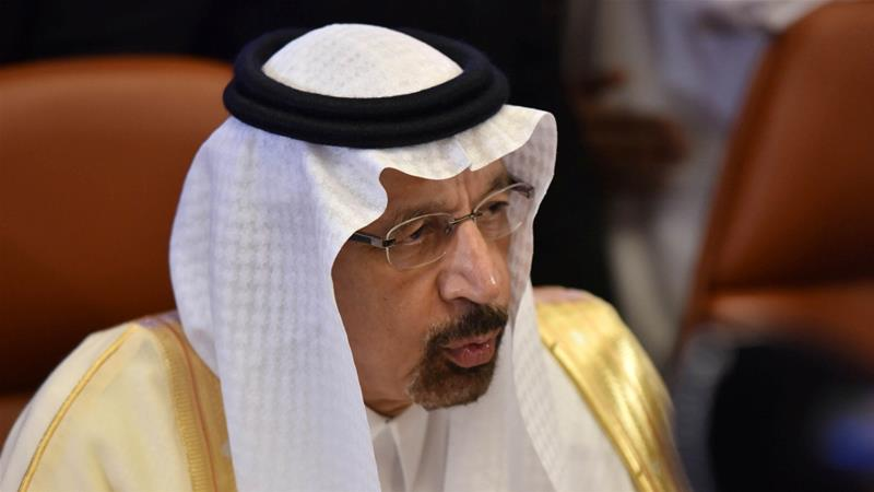 Saudi Arabian Energy Minister Khalid al-Falih said OPEC members would not make hasty decisions about output before a meeting of the cartel scheduled for June [Waleed Ali/Reuters]