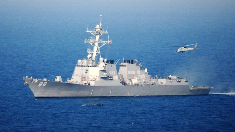 The operation was carried out by US destroyer Preble [File: MC3 Alexander Tidd/Navy Visual News Service/EPA]