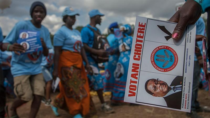 Malawi votes in tight election as Mutharika seeks second term