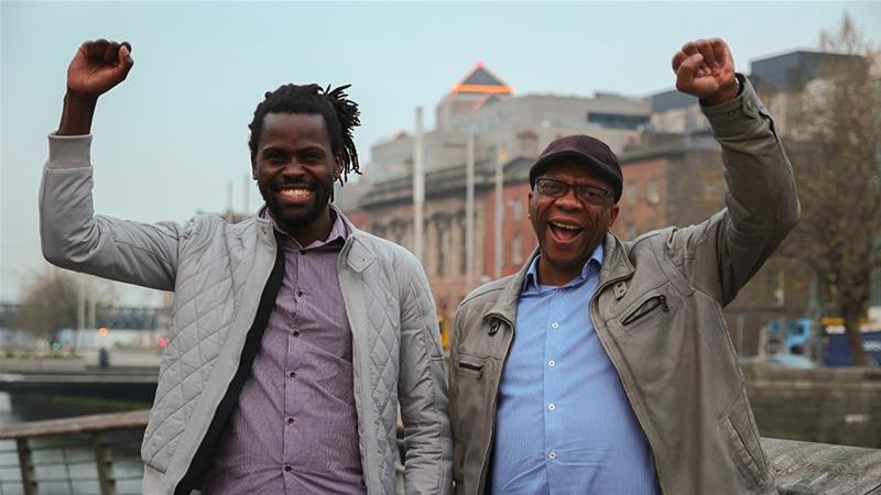 Bulelani Mfaco, left, and Lucky Khambule, right, are among the refugee-activists trying to reform the system [Ruairi Casey/Al Jazeera]