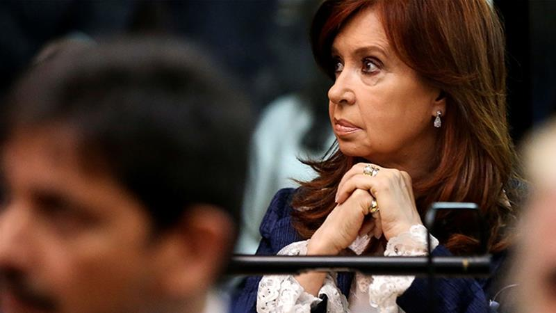 Vice Presidential candidate Cristina Fernandez de Kirchner may be pulling ahead in the polls, but it may be the Argentine economy that determines the election's ultimate winner [Agustin Marcarian/Reuters]