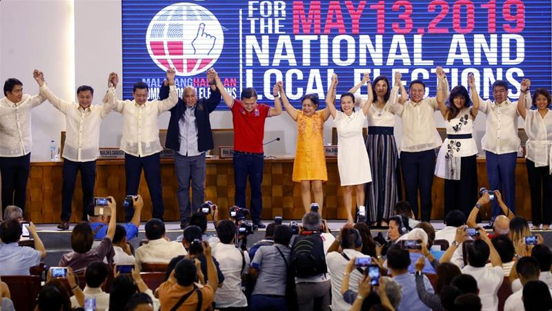 Last week's vote was seen as a gauge of public support for Duterte, who is midway through the single six-year term [Bullit Marquez/AP]