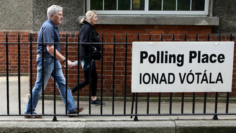 Irish voters are taking part in a divorce referendum while also casting their ballots in European Elections and Ireland's local elections [Paul Faith/AFP]