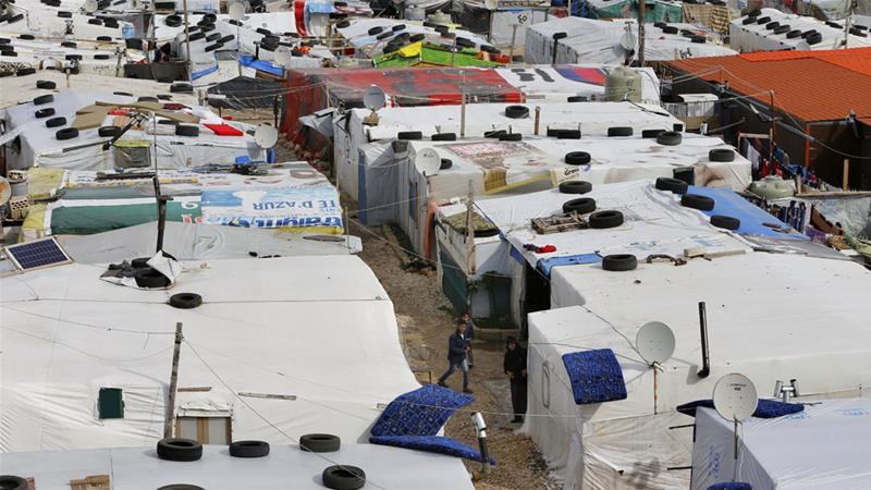 Lebanon has hosted more than 1.5 million Syrian refugees since the war broke out in 2011, many in crowded, informal camps [File: Bilal Hussein/AP]