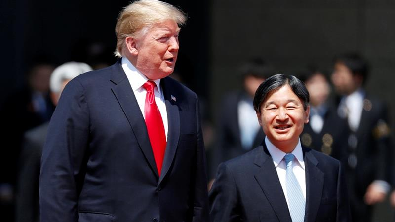 Image result for Trump in Japan: US president meets Emperor Naruhito
